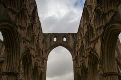 Ruinen der berühmten Abtei, England Lizenzfreies Stockbild