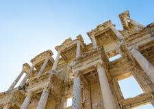 Ruinen der Bibliothek von Celsus in Ephesus die Türkei Lizenzfreie Stockbilder