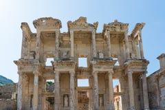 Ruinen der Bibliothek von Celsus in Ephesus die Türkei Stockbilder