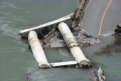 Ruinen der Datenbahn nach Erdbeben Lizenzfreies Stockbild