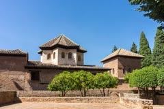 Ruinen der ehemaligen alten Festung Alhambra Granada, Andalusien, S Stockfotografie