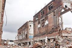 Ruinen der Fabrik Stockbild