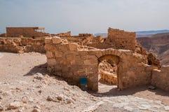 Ruinen der Festung Masada, Israel Sonniger Tag lizenzfreie stockbilder