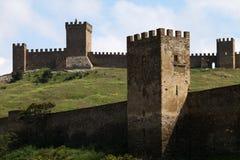 Ruinen der Genua-Festung Stockfotografie