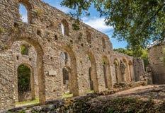 Ruinen der großen Basilika Stockfotos