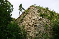 Ruinen der historischen Festung in Srebrna Gora, Polen Lizenzfreies Stockbild