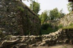 Ruinen der historischen Festung in Srebrna Gora, Polen Lizenzfreies Stockfoto