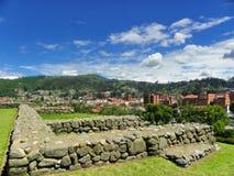 Ruinen der Inkas Pumapungo, alte Stadt Tomebamba, Cuenca, Ecuador lizenzfreies stockbild