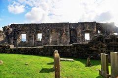 Ruinen der Kathedrale und des Schlosses, des Strandes und des Golfplatzes St Andrews, Schottland Lizenzfreie Stockbilder