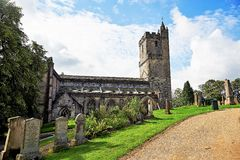 Ruinen der Kathedrale und des Schlosses, des Strandes und des Golfplatzes St Andrews, Schottland Lizenzfreie Stockfotografie
