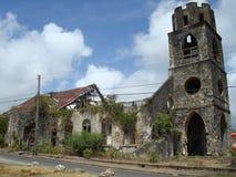 Ruinen der Kirche Stockfotos