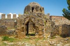 Ruinen der Kirche von St George Stockbild