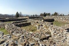 Ruinen der mittelalterlichen Festung Krakra vom Zeitraum des ersten bulgarischen Reiches, Pernik, Bulgarien Stockfotografie