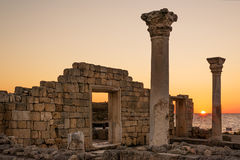 Ruinen der Nebenflusskolonie bei Sonnenuntergang Lizenzfreies Stockbild
