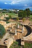 Ruinen der römischen Landhäuser in Karthago Stockbild