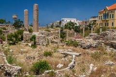 Ruinen der römischen Stadt im Reifen Lizenzfreies Stockfoto