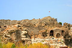 Ruinen in der Seite, die Türkei Stockbild