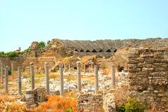Ruinen in der Seite, die Türkei Stockfotografie