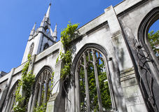 Ruinen der St.-Dunstan-in-d-Osten-Kirche in London Lizenzfreie Stockfotografie