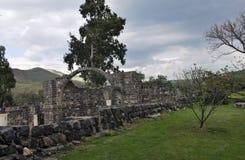Ruinen der Stadt von Kursi, Golan Heights Stockfoto
