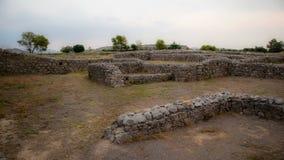 Ruinen der Stadt von Sirkap, Taxila, Pakistan lizenzfreie stockfotos