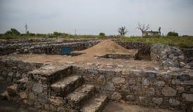 Ruinen der Stadt von Sirkap, Taxila, Pakistan stockfotografie