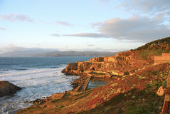 Ruinen der Sutro-Bad-Westseite von San Francisco Lizenzfreie Stockfotografie