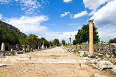 Ruinen der Türkei-Ephesus stockfotos