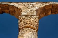 Ruinen der umayyad mittelalterlichen Stadt Anjar stockfoto