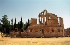 Ruinen der Umayyad-Stadt, Anjar, der Libanon lizenzfreies stockfoto