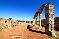 Ruinen der Umayyad-Stadt von Anjar Stockbild