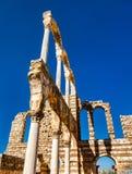 Ruinen der Umayyad-Zitadelle bei Anjar Die Bekaa-Ebene, der Libanon stockbilder