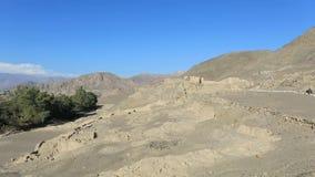 Ruinen der Verwaltungsstelle Paredones Nazca Peru des Inkas stock video footage