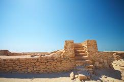 Ruinen in der Wüste lizenzfreie stockfotos