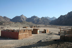 Ruinen in der Wüste Stockbild