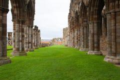 Ruinen der Whitby Abtei Lizenzfreie Stockfotos