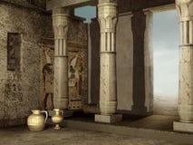 Ruinen des ägyptischen Gebäudes lizenzfreie abbildung