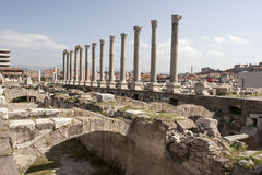 Ruinen des Agoras, archäologische Fundstätte in Izmir Stockfotos