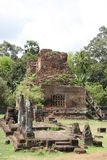 Ruinen des aincient Tempels Stockbild