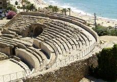 Ruinen des alten Amphitheaters Stockfotos