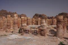 Ruinen des alten arabischen Stadt PETRA, Jordanien Lizenzfreies Stockfoto
