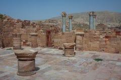 Ruinen des alten arabischen Stadt PETRA, Jordanien Lizenzfreie Stockfotos