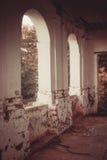Ruinen des alten Backsteinhauses von Tomasz Wawzecki Vidzy-Dorf Stockfotos