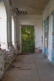 Ruinen des alten Backsteinhauses von Tomasz Wawzecki Vidzy-Dorf Lizenzfreies Stockfoto