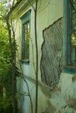 Ruinen des alten Backsteinhauses von Tomasz Wawzecki Vidzy-Dorf Stockfoto
