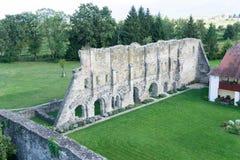 Ruinen des alten Cistercian-Benediktinerklosters in Carta, Rumänien lizenzfreie stockbilder