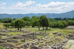 Ruinen des alten Filippi Stockbild