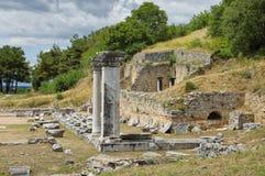 Ruinen des alten Filippi Stockfotografie