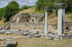 Ruinen des alten Filippi Stockfotos