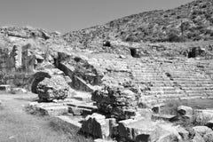 Ruinen des alten griechischen Amphitheaters Stockbilder